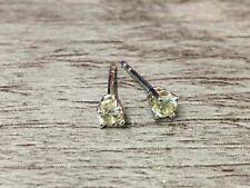 14K White Gold Tested 3mm Round Cut Diamond Studs