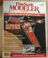 Fine Scale Modeler Magazine March 1989