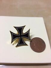 GERMAN MALTESE IRON CROSS QUALITY ENAMEL LAPEL PIN BADGE MEMORABILIA BIKER WW11