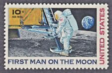 1969 FIRST MAN ON THE MOON STAMP 10 Cent AIR MAIL UNITED STATES ASTRONAUT NEIL A