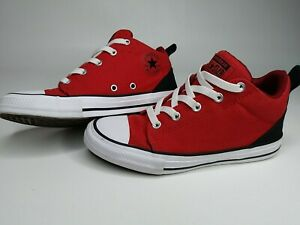 Converse All Star Chuck Taylor Size 3 Red Black High Tops New style slip on.