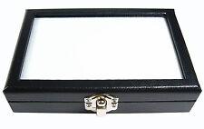 TOP GLASS DISPLAY BOX 10x15 cm. SHOW JEWELRY JAR GEMS STONE DIAMOND COIN No.#10