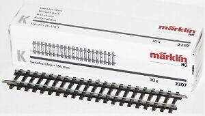 Märklin H0 2207-S K-Gleis gerade 156 mm (10 Stück) - NEU + OVP
