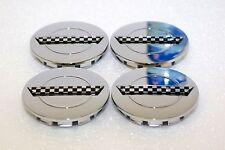 """4 Chrome wheel C4 center caps fits: Chevy Corvette Camaro 91-96 ZR1 rim 3"""" hub"""