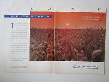 4/1990 PUB MATRA MARCONI SPACE BLE SATELLITE SPOT 4 TELEDETECTION ORIGINAL  AD