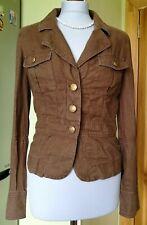 Hilfiger Denim Womens Brown Linen 100% Blazer/Jacket, Size S , Good condition !