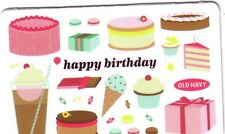 OLD NAVY happy birthday COLLECTIBLE Gift Card New No Value *BILINGUAL*