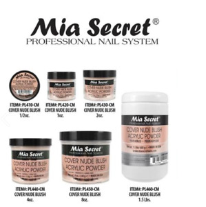 Mia Secret Cover Nude Blush Acrylic Powder 1/2oz, 1oz, 2oz, 4oz, 8oz CHOOSE SIZE