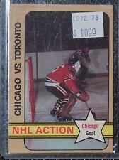 1972-73 TONY ESPOSITO -NHL ACTION CHICAGO VS TORONTO -Chicago Goal #196-Opeechee