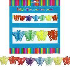 Butterfly Tissue Paper Garland Banner Garden Party Decorations Supplies