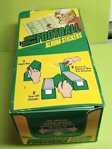 1982 Topps Football Sticker Box No  Album Right From Case Original Stock!