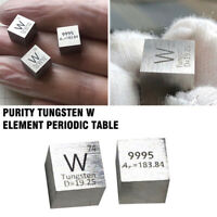 1PC 99.95% High Purity Tungsten W 10mm Cube Metal Carved Element Periodic Table