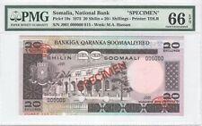 Somalia 20 Shilin 1975 P-19s Specimen PMG 66 EPQ