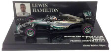 Minichamps Mercedes W07 Halo Test Singapore GP 2016 - Lewis Hamilton 1/43 Scale