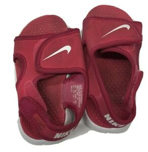Nike Sandals RED  Toddler Girl Size 6c Pre Owned