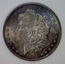 1904 O Morgan Silver Dollar $1 Pastel Color Toned ~ Old Fatty NGC MS65 MS 65