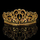 Gold Wedding Crown Pageant Prom Golden Crystal Tiara Rhinestone Bridal Hairband