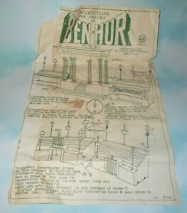 Vintage 1960 Marx Ben Hur Play Set Instruction Sheet P-1121