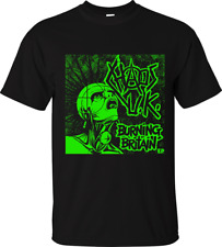 CHAOS UK T-SHIRT Burning Britain Official Merch British hardcore punk rock fuk