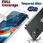 For+iPhone+12+11+Pro+Max+X+XR+XS+Max+8+7+6+Tempered+GLASS+Screen+Protector+4PACK