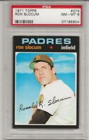 SET BREAK -1971 TOPPS # 274 RON SLOCUM,  PSA 8 NM-MT,  ONLY 5 HIGHER, CENTERED