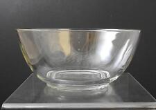 """Vintage Clear Glass Serving Mixing Bowl 10 1/2"""" Y25"""