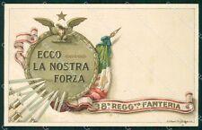 Militari Reggimentali 38º Reggimento Fanteria 1918 cartolina XF4892