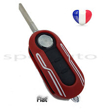 plip coque clé Fiat 500 Panda Punto Bravo Brava Stilo Rouge Design + lame vierge
