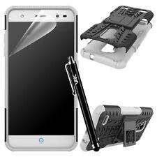 ZTE Blade V7 Lite Heavy Duty Tough Shock Proof Builder Hard Back Case Cover White