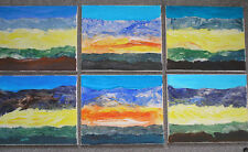 set of 6 original acrylic paintings on canvas with free postage