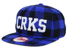Crooks and Castles Script Logo New Era 9fifty Cap Leather strapback Flannel
