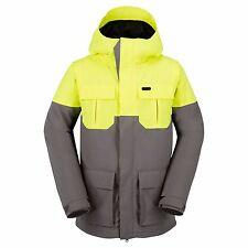 2017 Nwt Mens Volcom Alternate Insulated Snowboard Jacket $190 L grey yellow