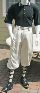 New Men Golf Knickers Sand Microfiber Outfit -Shirt-Socks