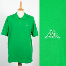 MENS VINTAGE RETRO 90'S KAPPA POLO T-SHIRT BRIGHT GREEN SMART CASUALS ITALIA XL