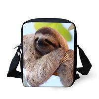 Funny Animal Cross Body Bag Casual Leisure Shoulder Messenger Purse Sloth Design
