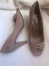 Banana Republic Open Toe Pumps Shoes Women's Suede 9.5 New In Box Perla