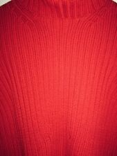 14W 18 Willi Smith Merino Wool Cable Knit Red Sweater Top NWTS