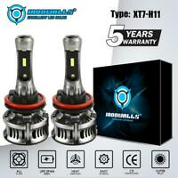 IRONWALLS H11 H8 H9 DRL LED Headlight Kit Bulbs High Power 6000K 1900W 285000LM