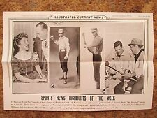 1956 ICN Display Poster 12x19 Connie Mack dies Ted Williams Sam Snead Little Mo