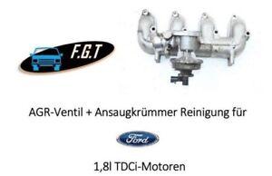Ford MONDEO S-MAX GALAXY TRANSIT 1,8l TDCi Ansaugkrümmer+AGR-Ventil Reinigung