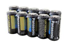 10 PCS of Panasonic Lithium CR123A 3V Batteries
