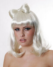 LADY GAGA STYLE WIG WITH BOW