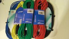 176-297 12mtr colorées microphone câble de bonne qualité XLR-XLR red-yel-gre-blu-bla