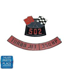 Chevrolet 502 Flags 350 Horsepower Air Cleaner Diecast Emblem Set