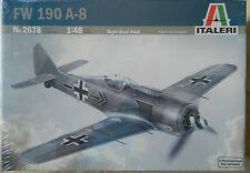 Italeri 1:48 FW190 A8 German War Plane Skill Level 2 Plastic Model Kit #2678