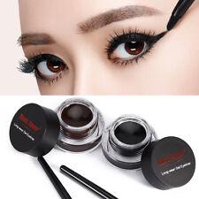2X Eyeliner Gel Cream With Brush Smoky Eyes Pencil Waterproof Eyeshadow Makeup