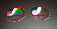 1989 Upper Deck Baseball Montreal Expos Hologram Stickers Vintage Logo Lot of 2