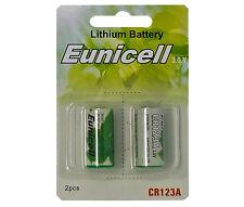2 x CR123A Lithium Batterie ( 1 Blistercards a 2 Batterien) Markenware Eunicell