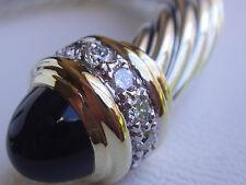 $3550 DAVID YURMAN 18K, SILVER DIAMOND BLACK ONYX BRACELET