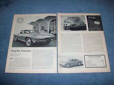 1964 Corvette Sting Ray Automatic 300hp Vintage Info Article